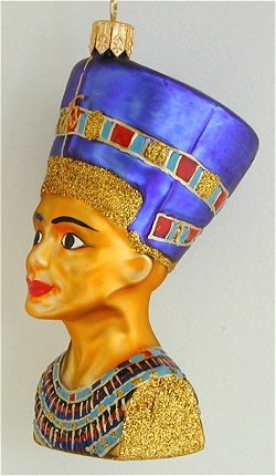 Nefertiti bust ornament