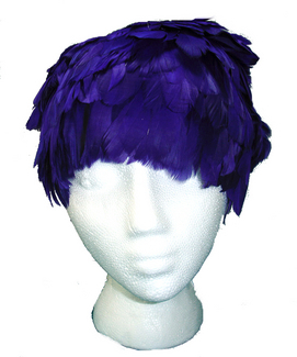 Goose feather wig purple