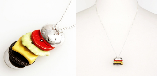 Qpot burger necklace