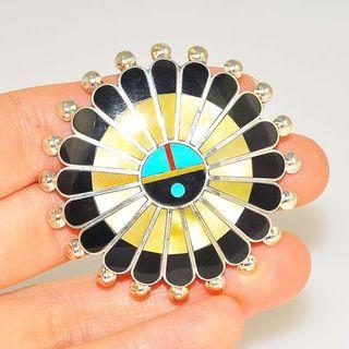 Tibetshining zuni brooch pendant