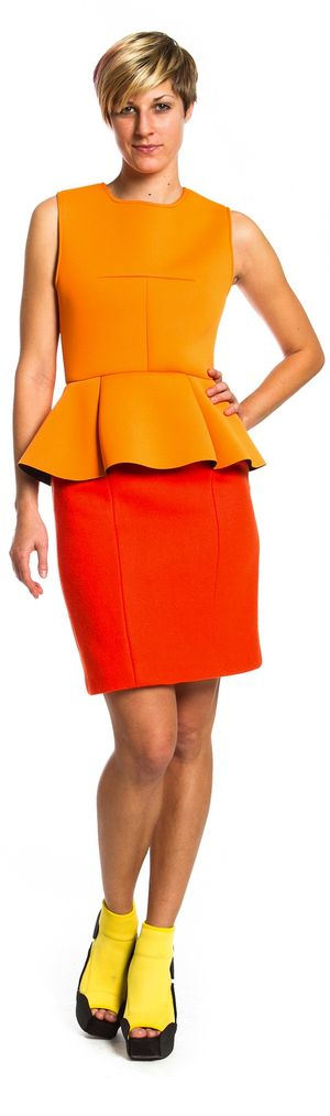 Tron legacy dress orange
