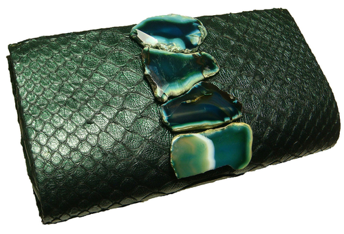 Paige gamble emerald python agate